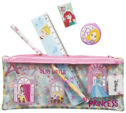 Disney Princess PVC Filled Pencil Case Stationery Set Back To School Or Gift - 5pc