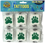 Green Paw Print Temporary Tattoos