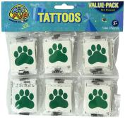 Green Paw Print Temporary Tattoos