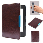 For Kindle 8th Generation, AMA(TM) Ultra Slim Auto Sleep Leather Magnetic Case Cover for New 2016 Model Amazon Kindle 8th Generation 15cm +Touch Pen