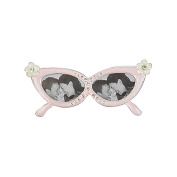 PINK FLOWER ACCENTED EYEGLASS FRAME - Picture Frame