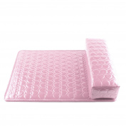 Soft Column Manicure Care Salon Half Hand Cushion Rest Pillow Nail Art Tool Set Pink