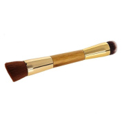 Togirl Bamboo Cosmetic Contouring Brush Powder Foundation Double Makeup Brush Brushes