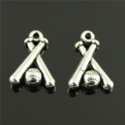 NEWME 30pcs baseball Charms Pendant For DIY Jewellery Wholesale Crafting Bracelet and Necklace Making