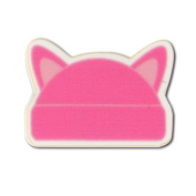 StockPins Pink Cat Ear Hat Shaped Lapel Pin - Small