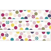 White with cute colourful dot Washi Masking Tape deco tape Shinzi Katoh
