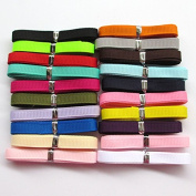 """Chenkou Craft Assorted Of 20 Yards Grosgrain Ribbon Total 20 Colours Mix Lots Bulk (1/4"""""""