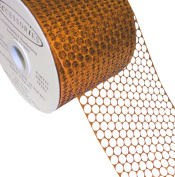 ACI PARTY AND SPIRIT ACCESSORIES Honeycomb/Punchinello Ribbon, Orange