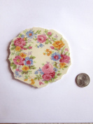 10cm Colourful Floral Mosaic Tile, Tile Mosaic Piece, Broken China Mosaic Tile, Porcelain Piece Round China Tile Mosaic Art Supply