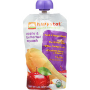 Happy Tot Baby Food - Organic - Apple and Butternut Squash - Stage 4 - 120ml - Case of 16-95%+ Organic-Gluten Free -