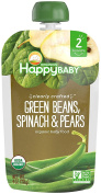 Happy Family Baby Clearly Crafted Stage 2 Green Beans, Pears & Spinach, 8 Count