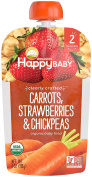 Happy Family Baby Clearly Crafted Stage 2 Carrots, Strawberries & Chickpeas, 8 Count