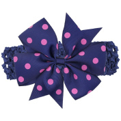 Nurbo Newborn Infant Baby Girl Cute Polka Dot Flower Headband Headwrap Hair Band
