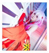 Kadiya Cosplay Wigs Long Gradient Pink Girl Anime Show Party Hair