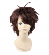 Kadiya Cosplay Wigs Short Brown Boy Male Halloween Anime Party Costume Hair
