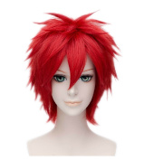 Kadiya Cosplay Wigs Short Red Heat Resistant Halloween Anime Party Costume Hair