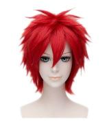 Kadiya Cosplay Wigs Short Red Heat Resistant Halloween Anime Party Costume Hair