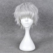Kadiya Cosplay Wigs Short Silver White Fluffy Fashion Anime Wig