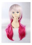 Kadiya Cosplay Wigs Long Gradient Pink Fashion Girl Animation Wig