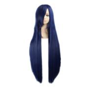 Kadiya Cosplay Wigs Long Straight Deep Blue Christmas Halloween Synthetic Wig