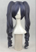 Kadiya Cosplay Wigs Long Wavy Clip On Pony Blue Girl Anime Costume Party Wig