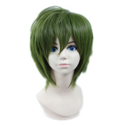 Kadiya Cosplay Wigs Short Deep Green Fashion Boy Male Coser Anime Show wig