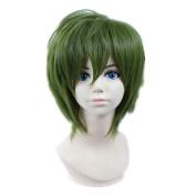 Kadiya Cosplay Wigs Short Deep Green Fashion Boy Male Coser Anime Show wig