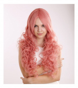 Kadiya Cosplay Wigs Long Wavy Curly Pink Fashion Girl Anime Show Party Hair