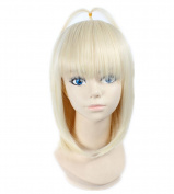 Kadiya Cosplay Wigs Short Light Blonde Ahoge Anime Halloween Costume Hair