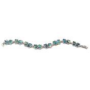 Storrs Wild Pearle Handmade Beautiful Butterflies Abalone 18cm Bracelet