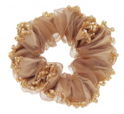 Fashionable Elegant Elastics Ponytail Holder Hair Rope/Ties Scrunchie Brown