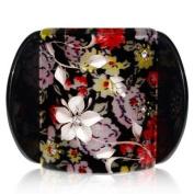 Lucia Ivory Flowers Print Medium Hair Clip Clamp