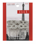 Elle 2 Piece Crystal and Silver Decorative Side Comb
