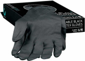 colour trak Black Reusable Gloves, Medium, 4 Count