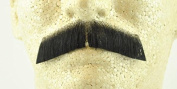 Gentleman Moustache BLACK - 100% Human Hair- no. 2011 - REALISTIC! Perfect for Theatre - Reusable!