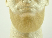 Full Chin Beard BLONDE - 100% Human Hair - no. 2023 - REALISTIC! Perfect for Theatre and Stage - Reusable!