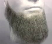Rubies Full Character Beard LIGHT GREY - 100% Human Hair - no. 2024 - REALISTIC! Perfect for Theatre and Stage - Reusable!
