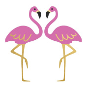 FLAMINGO set of 25 assorted premium waterproof black, pink and metallic gold temporary jewellery foil Flash Tattoos