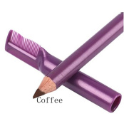 Addfavor 2Pcs Makeup Eyebrow Pencil Enhancer with Brush Waterproof Shapes Eye Brow Pen Cosmetics Paint Eyebrows Colour Beauty Tools