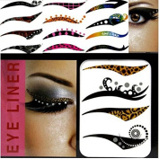 Doubtless Bay Hot Selling Non-toxic Eyeliner Tattoo Sticker Sexy Temporary Makeup Eye Shadow Stickers