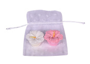 Lovely Hula Hands Lip Gloss Bundle of 2 - Pink and White Hibiscus