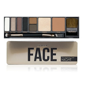 Profusion Face Pro Makeup Case Tin w/ Brush 8 Powder