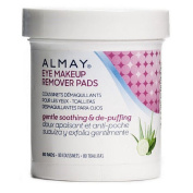 Almay Eye Makeup Remover Pads, Gentle, Soothing & De-Puffing 80 Pads