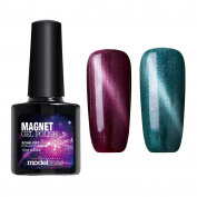 Modelones 3D Magnetic Soak Off UV LED Gel Nail Polish Set 10ml with Free Magnet-Duo Pack
