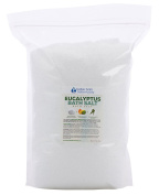 Eucalyptus Bath Salt 5.4kg Bulk Size -  .   - Epsom Salt With Eucalyptus Essential Oils & Vitamin C - Enjoy Refreshing Aromatherapy Benefits With This All Natural Bath Soak