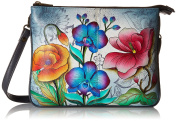 Anuschka Triple Compartment Crossbodyfloral Fantasy