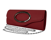 Peach Couture Cross Body Exquisite Matte Bi Fold Evening Clutch Wallet