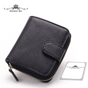 Artemis'Iris Women Mini Compact Small Wallet Clutch Zipper Money Coins Change Cards Holder Organiser Short Purse