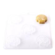 4 Cavity Classic Scallop Shell Soap/Bath Bomb Mould Mould G06 x 5