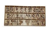 104 Piece Craft Wooden Alphabet - 4 of Each Letter